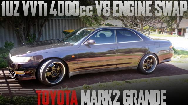 VVTiモデル1UZ型4リッターV8エンジン移植オートマ仕上げ!90系トヨタ・マーク2グランデのオーストラリア中古車を掲載