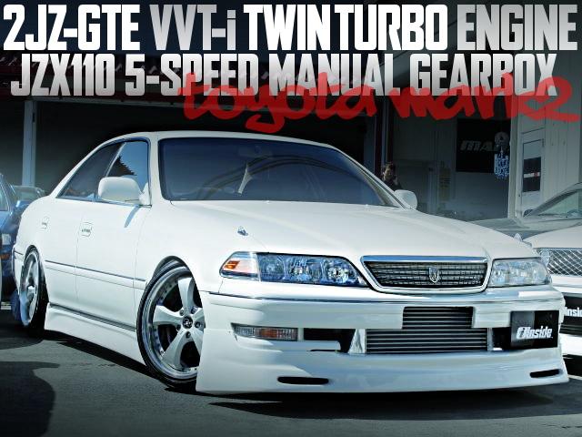 2JZ-GTE型3リッターVVTiツインターボエンジン!110系5速MT!X100型トヨタ・マーク2の国内中古車を掲載