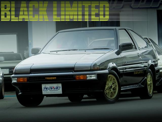 特別限定モデル400台!AE86型TOYOTAスプリンタートレノGT-APEXブラックリミテッドの国内中古車を掲載