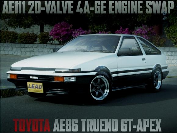 AE111用20バルブ4AGエンジンスワップ!トヨタAE86型スプリンタートレノGT-APEXの国内中古車を掲載