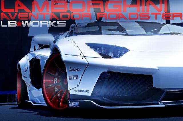 LB★WORKSワイド+フロントVer2エアロ!ランボルギーニ・アヴェンタドール・ロードスターの国内中古車を掲載