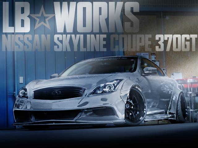 LB☆WORKSワイドボディ!LB車高調+AIR FORCEエアサス!V36日産スカイラインクーペ370GTタイプSの国内中古車を掲載