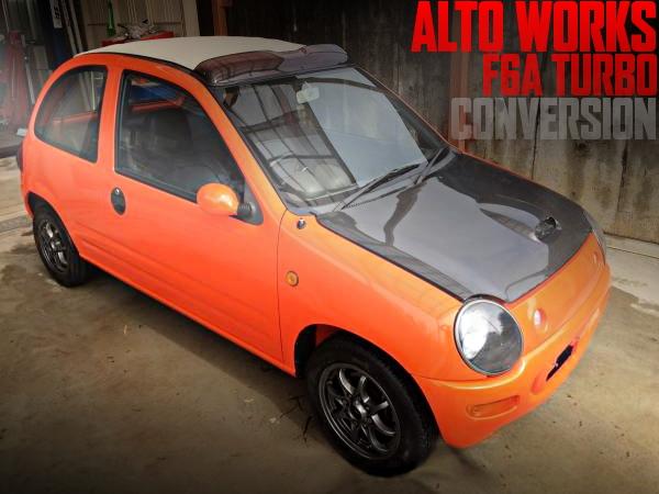アルトワークス流用F6AツインカムターボEG、4WD、四輪ディスクブレーキ移植!AA6PA型キャロルキャンバストップの国内中古車を掲載