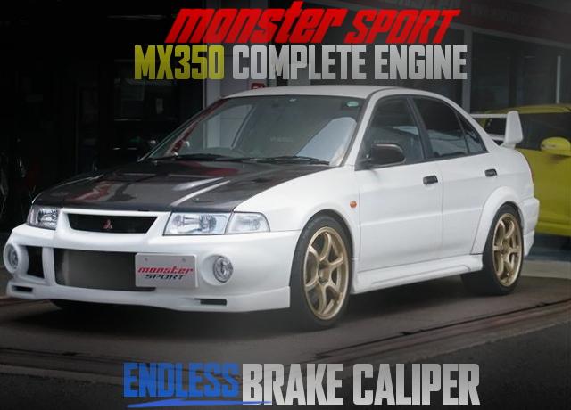 モンスタースポーツMX350エンジン搭載!ENDLESSブレーキキャリパー!三菱ランサーRSエボリューションVIの国内中古車を掲載
