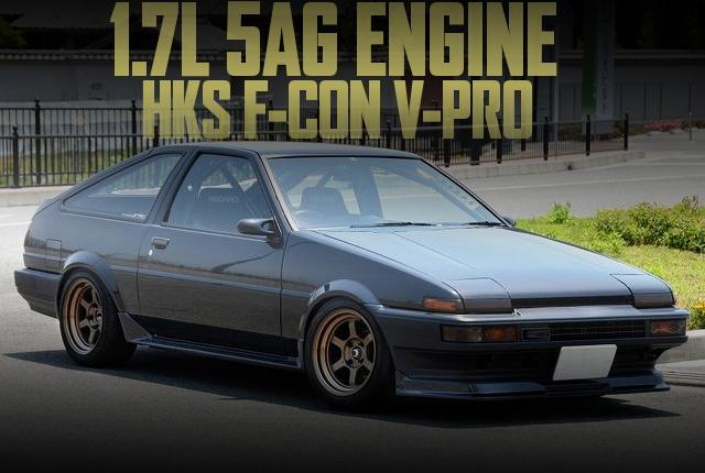 270馬力!1.7リッター4スロ仕様5A-GEエンジン+クロスMT!Vプロ制御!AE86スプリンタートレノの国内中古車を掲載