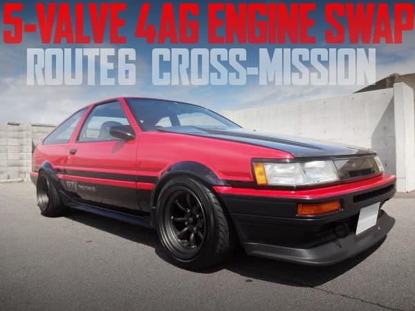 ルート6クロスミッション+5バルブ4AGエンジン仕上げ!AE86カローラレビンの国内中古車を掲載