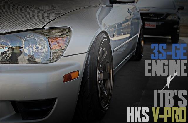 3S-GEエンジン改TRD独立スロットル!HKS金プロ制御!アンダーコート撤去+塗装!アルテッツァRS200の国内中古車を掲載