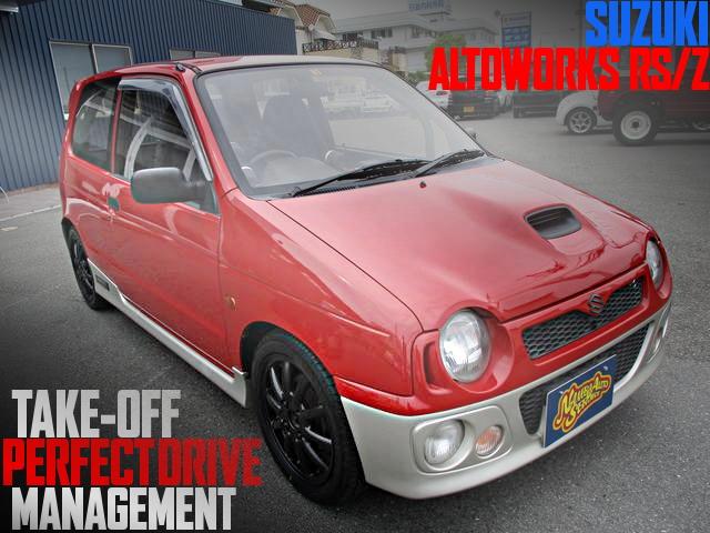 タービン交換EXマニ!TAKE-OFFパーフェクトドライブ制御!4代目SUZUKIアルトワークスRS/Zの国内中古車を掲載
