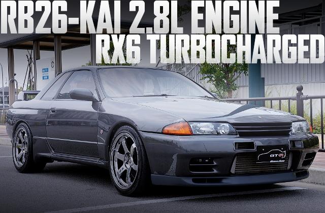 580馬力!RB26改2.8LエンジンRX6シングルウエストゲート!BNR32日産スカイラインGT-Rの国内中古車を掲載