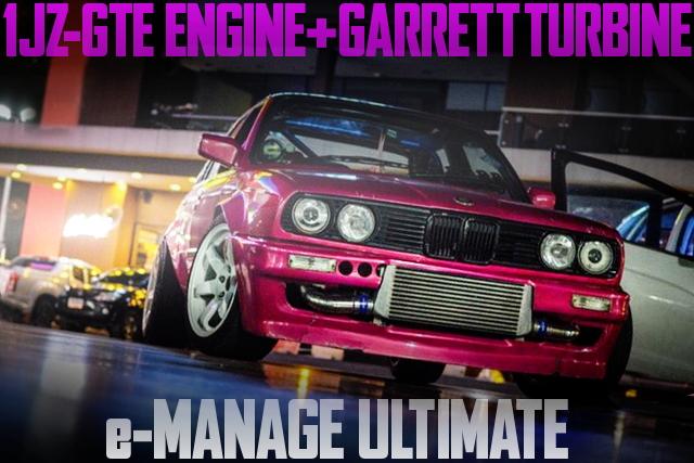 1JZ-GTEエンジン改ギャレットシングルタービン!eマネージアルティメイトE30型BMW・3シリーズのタイ中古車を掲載