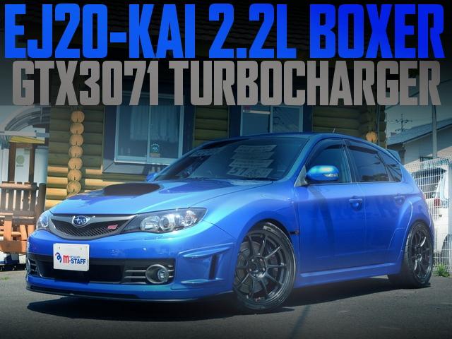 Dランゲージデモカー!EJ20改2.2LボクサーEG+GTX3071タービン!GRB型スバル・インプレッサハッチバックWRX・STIの国内中古車を掲載