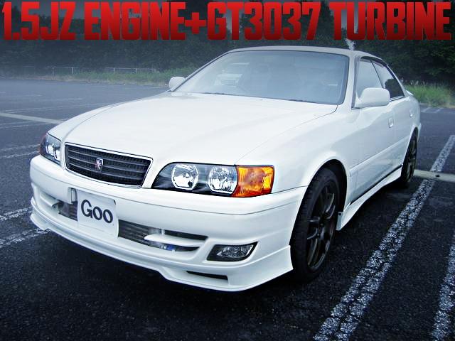 1.5JエンジンGT3040ウエストゲートターボ+Vプロ制御!ATシフト!JZX100型トヨタ・チェイサー・ツアラーVの国内中古車を掲載