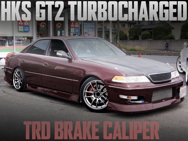 1JZ改HKS製GT2タービン+POWER-FC制御!TRDブレーキキャリパー!JZX100型マークIIツアラーVの国内中古車を掲載