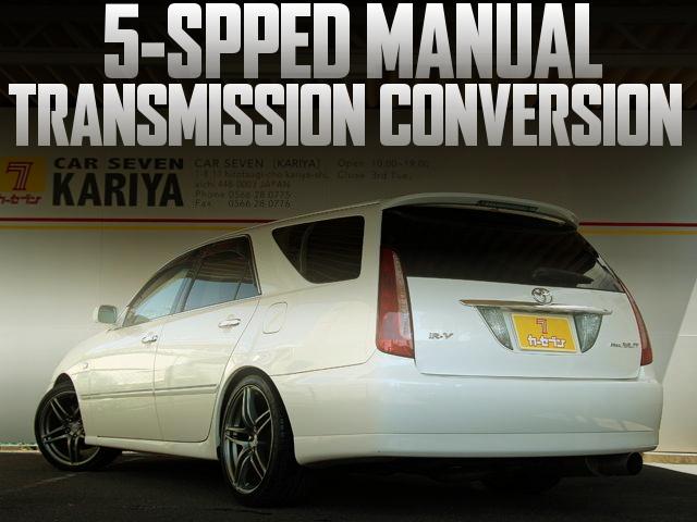 5速マニュアルミッション載せ替え!公認取得!JZX110W型マークIIブリット2.5iR-Vの国内中古車を掲載