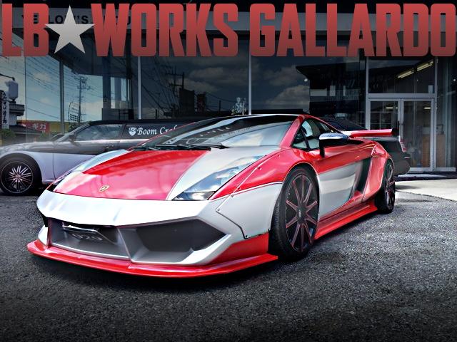族車カラーリング!LB-WORKSワイドボディ!街道レーサー!ランボルギーニ・ガヤルドeギアの国内中古車を掲載