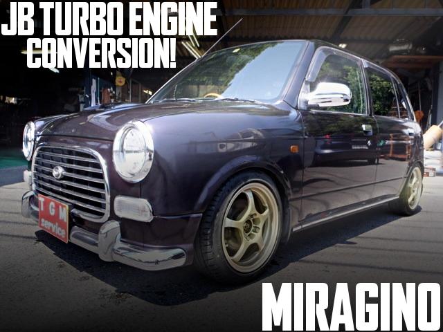 JB直4ターボエンジンスワップ!ATシフト組み合わせ!L700系初代ダイハツ・ミラジーノの国内中古車を掲載