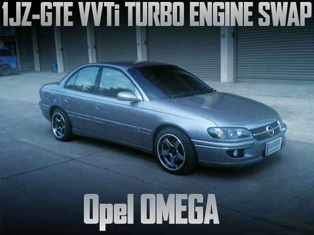 VVTi仕様1JZ-GTEターボエンジンスワップ+ATフロアシフト!2代目オペル・オメガBのタイ中古車を掲載