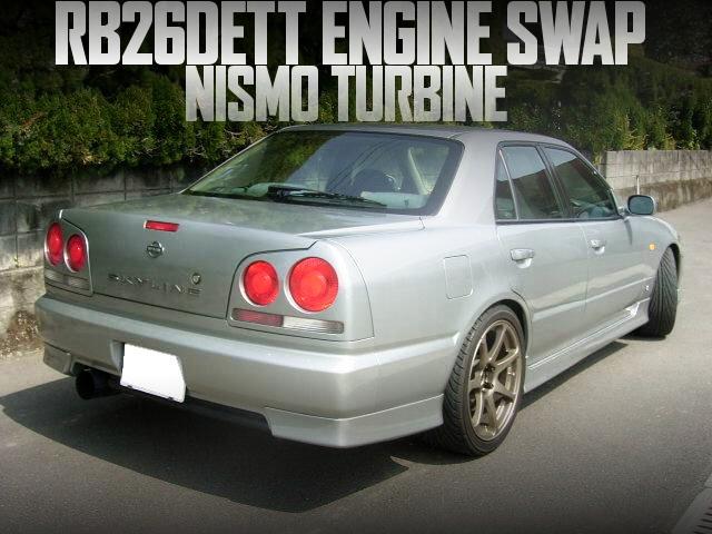 RB26エンジンスワップ!NISMOタービン!ブレンボキャリパー!R34日産スカイライン4ドアセダンの国内中古車を掲載