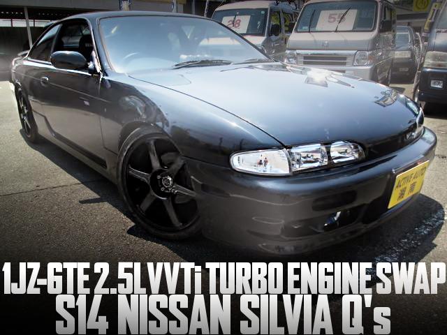 1JZ-GTE型VVTiターボエンジンスワップ!5速MT!スポット増し!S14日産シルビアQ'sの国内中古車を掲載