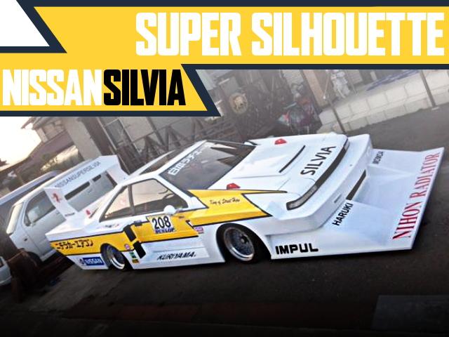 ニチラカラー+スーパーシルエットワイドボディ!街道レーサー!S12日産シルビアの国内車両物件を掲載