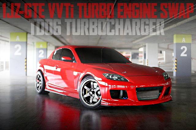 VVTi仕様1JZ-GTEエンジン改TD06タービン!APレーシング6POTキャリパー!SE3P型マツダRX-8のタイ中古車を掲載