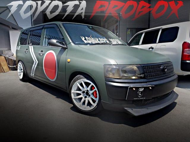 社畜ゼロ戦仕上げ!MJエアロKIT!NCP50初代トヨタ・プロボックスバンDXコンフォートPKGの国内中古車を掲載