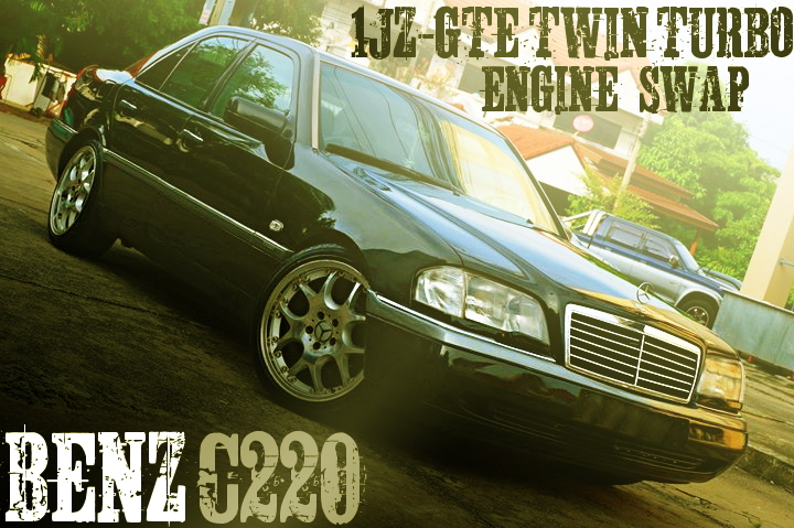 1JZ TWIN TURBO SWAP W202 BENZ C220