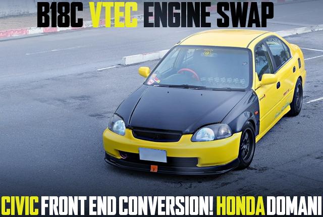 B18C VTEC EK CIVIC FACE HONDA DOMANI