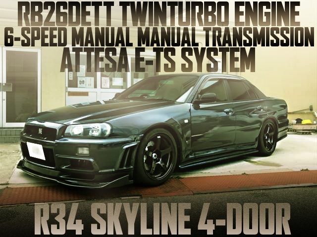 RB26 6MT R34 SKYLINE 4-DOOR