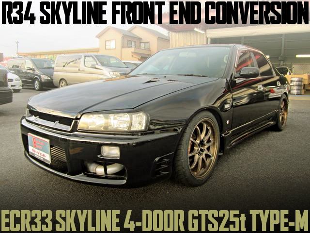 R34 FACE R33 SKYLINE 4-DOOR