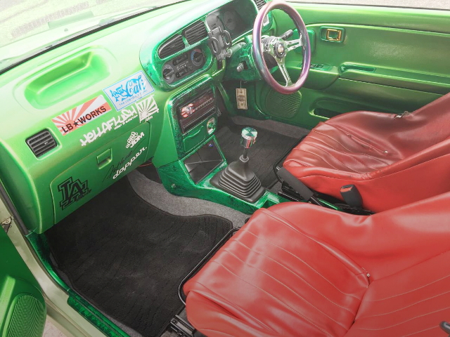 INTERIOR GREEN COLORING COUSTOM