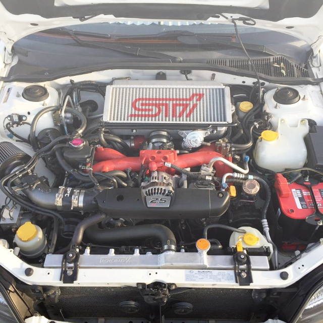 EJ255 BOXER ENGINE WITH STI TOP MOUNT INTERCOOLER