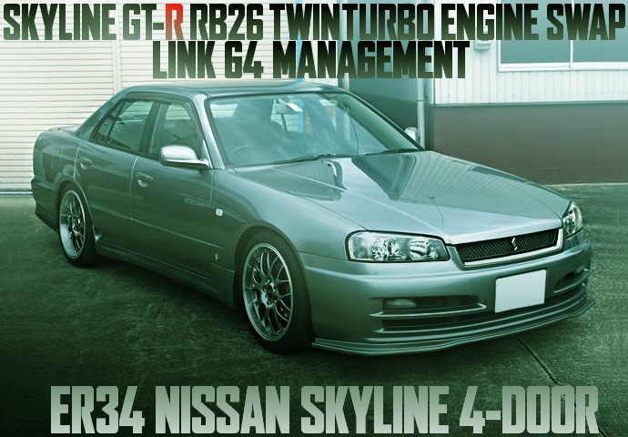 RB26 TWIN TURBO SWAP LINK-G4 ER34 SKYLINE 4-DOOR
