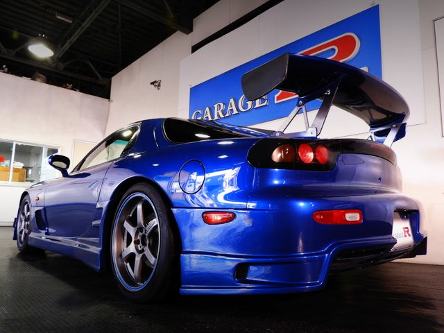 REAR EXTERIOR FD3S RX-7 BLUE
