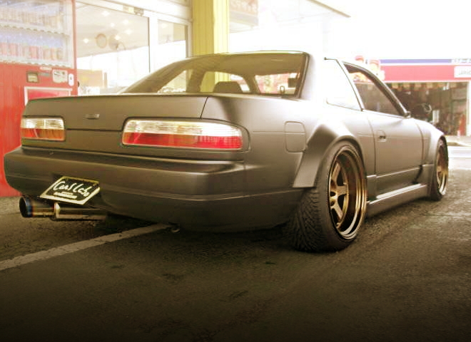 REAR EXTERIOR S13 SILVIA MATTE BLACK COLOR