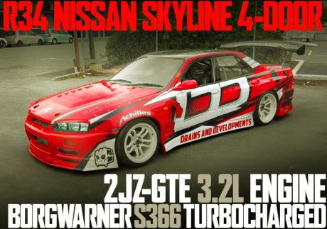 2JZ-GTE ENGINE S366 TURBO R34 SKYLINE 4-DOOR