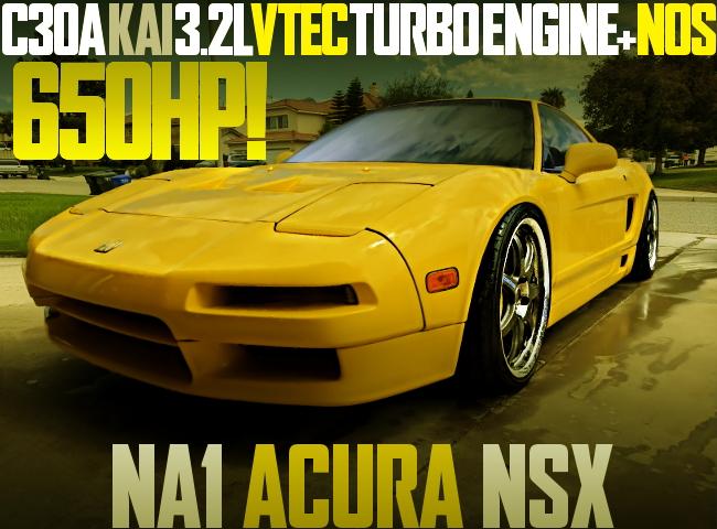 650HP VTEC TURBO NOS NA1 ACURA NSX
