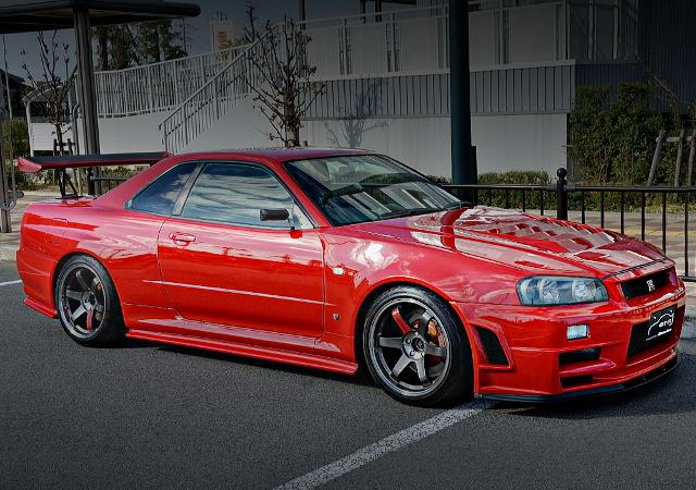 FRONT EXTERIOR R34 SKYLINE GT-R V-SPEC RED