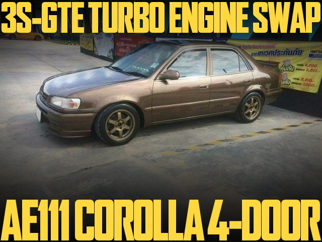 3S-GTE TURBO ENGINE AE111 COROLLA 4-DOOR SEDAN