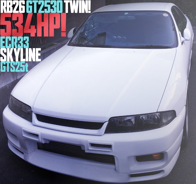 RB26 GT2530 TWIN ECR33 SKYLINE GTS25t