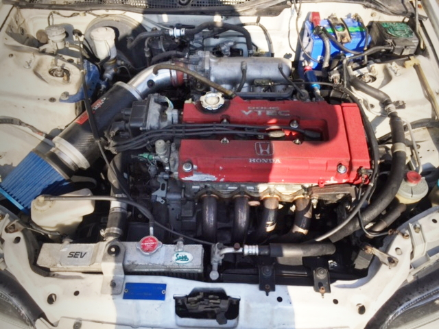 B18C VTEC ENGINE SWAP FOR EG6 CIVIC ENGINE ROOM