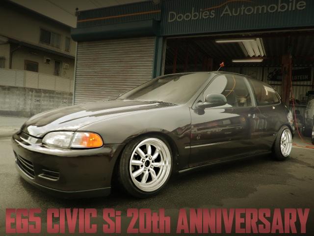 USフル外装+北米純正色塗装!BANZAIアルミ!ZCエンジン搭載20周年記念モデル!EG5シビックSi・20thアニバーサリーの国内中古車を掲載