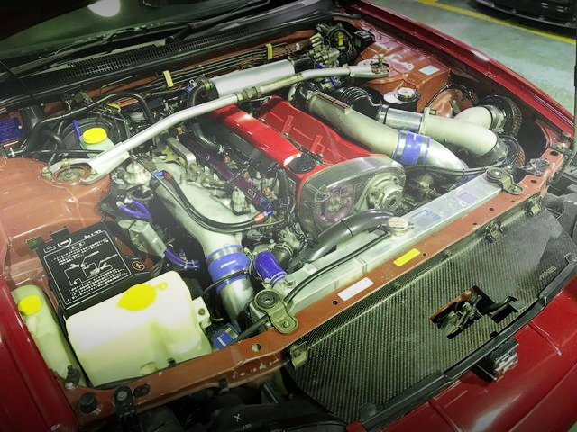 RB26 TWINTURBO ENGINE RED