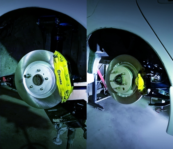 FRONT AND REAR BREMBO BRAKE