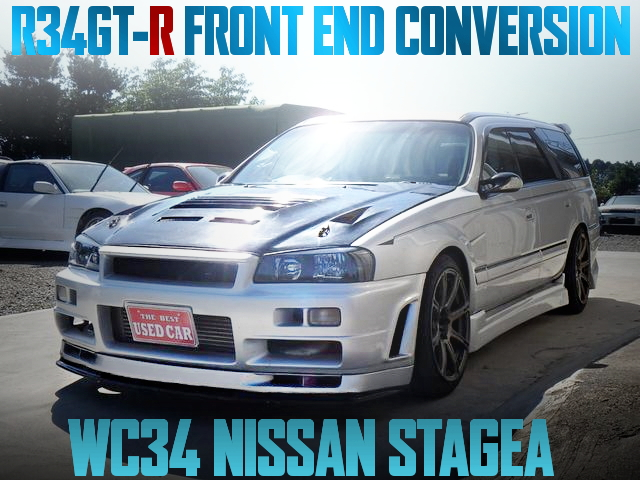 R34 SKYLINE GT-R FACE SWAP WC34 NISSAN STAGEA