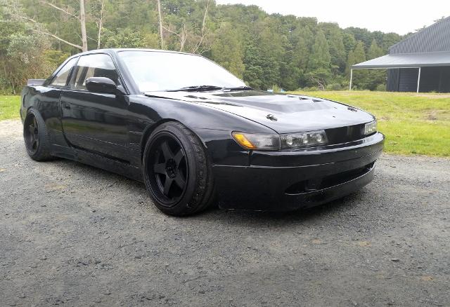 FRONT EXTERIOR S13 SILVIA BLACK