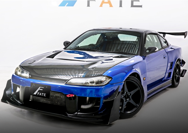 FRONT EXTERIOR S15 SILVIA WIDEBODY BLUE