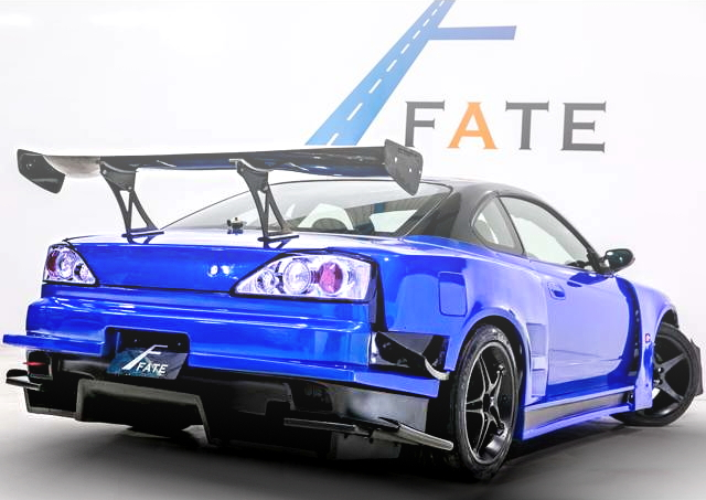 REAR EXTERIOR S15 SILVIA WIDEBODY BLUE