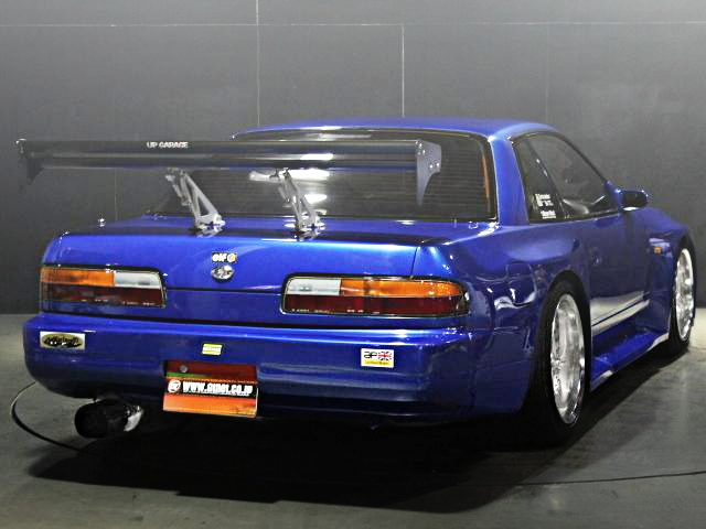 REAR EXTERIOR S13 SILVIA BLUE WIDEBODY