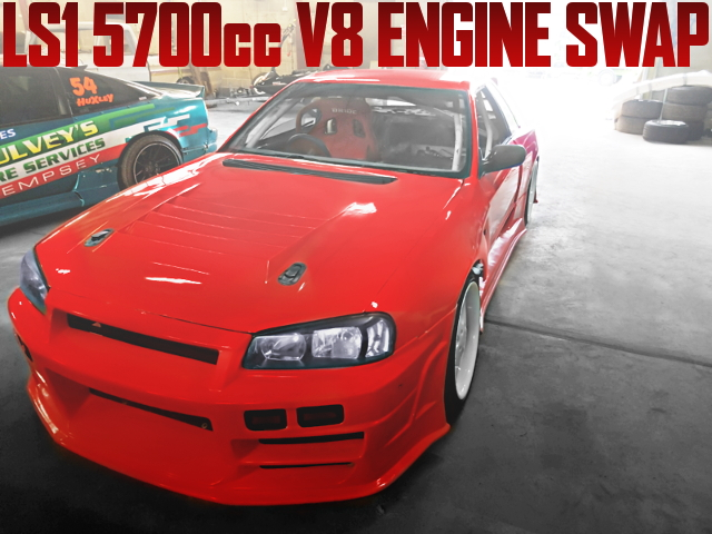 LS1 V8 ENGINE SWAP R34 FACE R32 SKYLINE